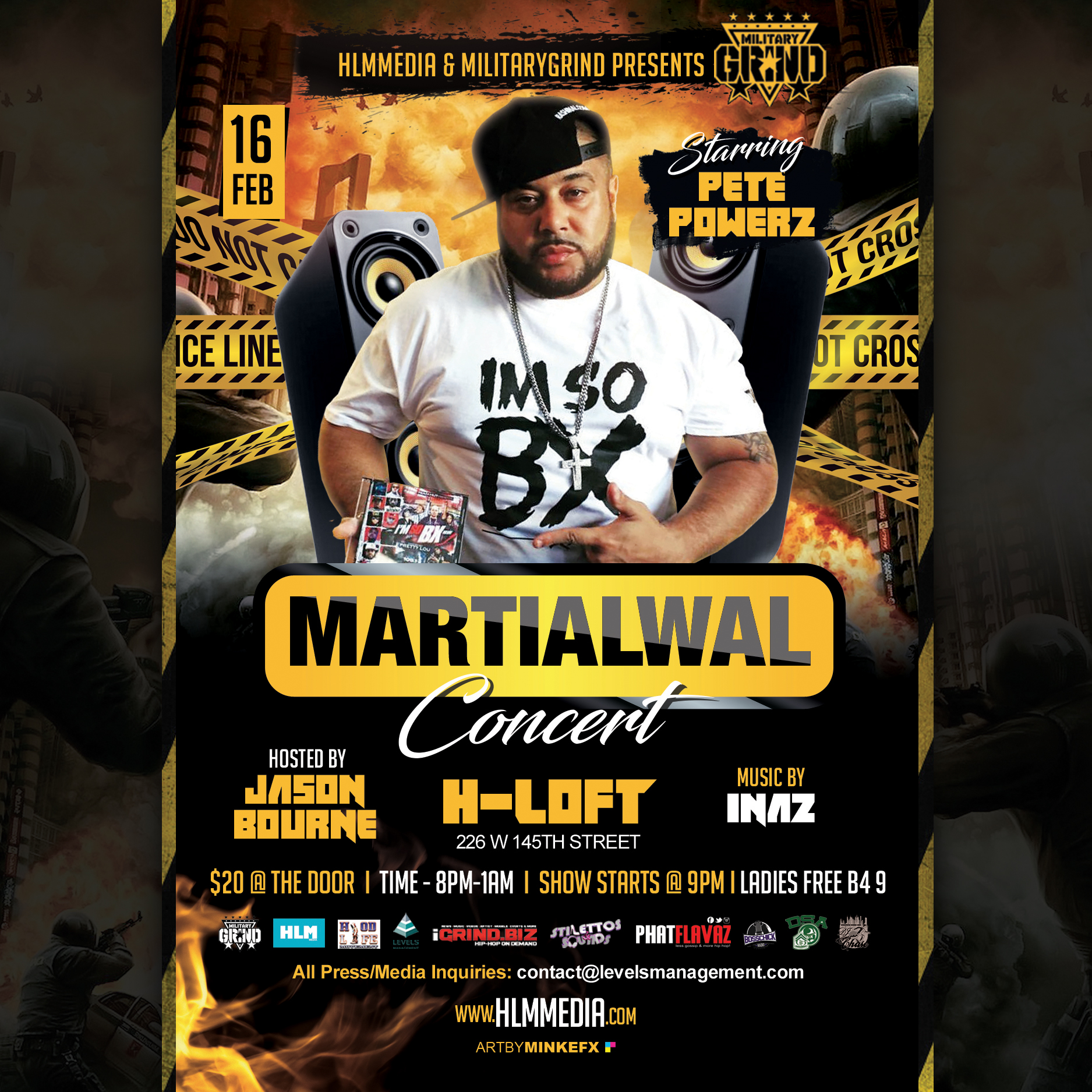 Photo of MiiltaryGrindConcertSeries – Pete Powerz #MartialWalConcert – Headlined By Jason Bourne – Music By DJ Chase