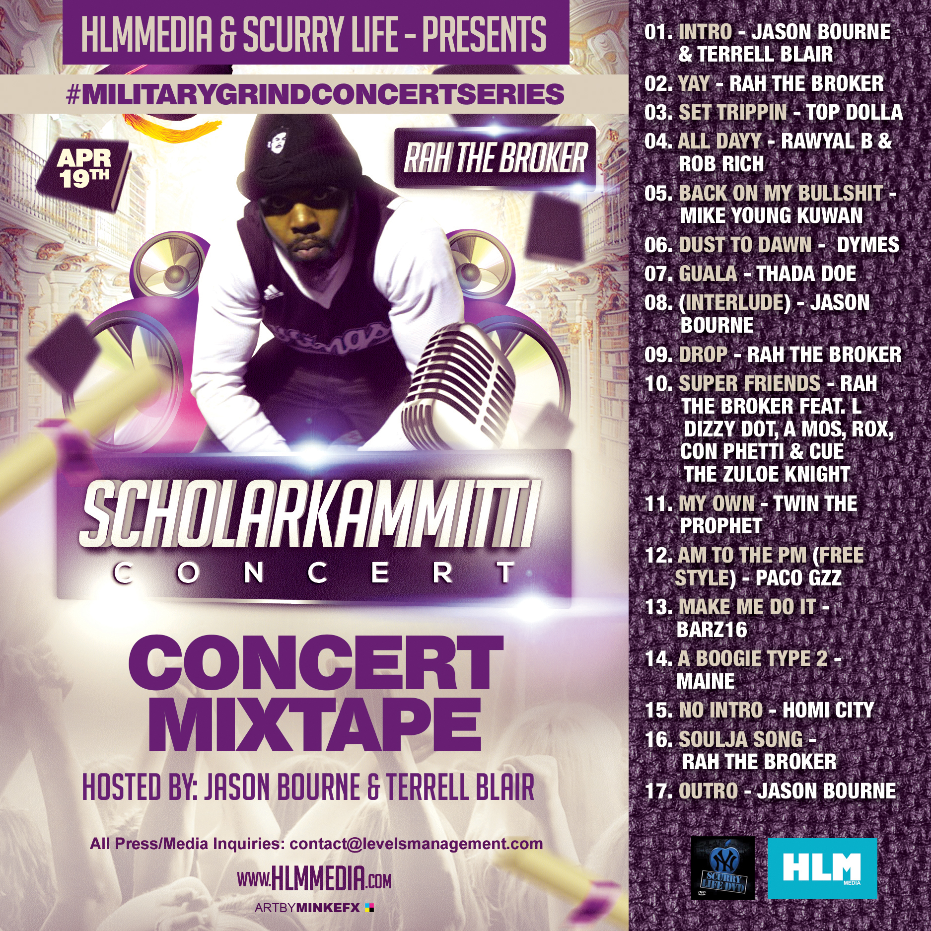 Photo of HLM Media & Scurry Life Presents – Scholarkammitti Concert Mixtape